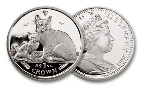 2008 1oz Silver Burmilla Cat Coin Proof