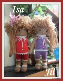 Isa et Jil, petites poupées au crochet